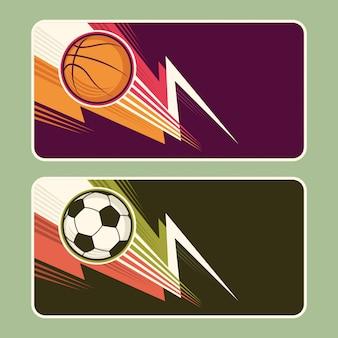 Conception de bannières de sport