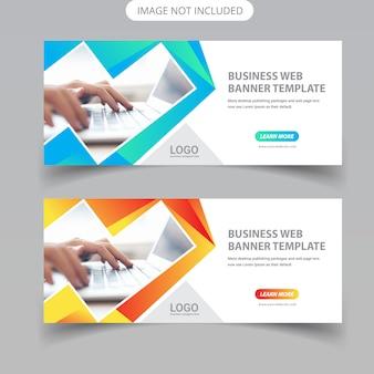 Conception de bannières web d'affaires