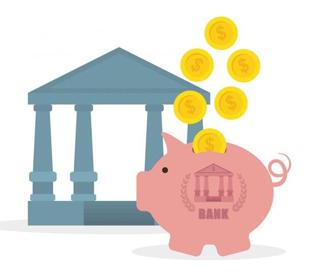 Conception de la banque d'argent.