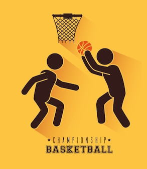 Conception de basket-ball, illustration vectorielle.