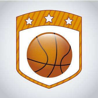 Conception de basket sur illustration vectorielle fond gris