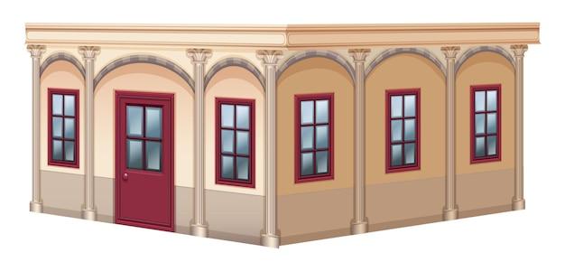 Conception de bâtiment avec un style vintage
