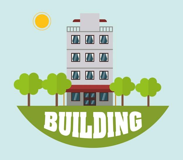 La Conception Des Bâtiments Vecteur Premium