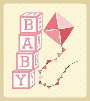 Conception de bébé au cours de l'illustration vectorielle fond crème