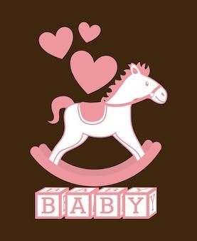Conception de bébé au cours de l'illustration vectorielle fond marron