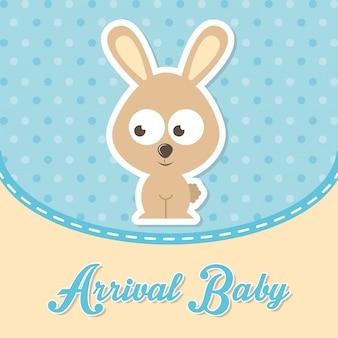Conception de bébé au cours de l'illustration vectorielle fond pointillé