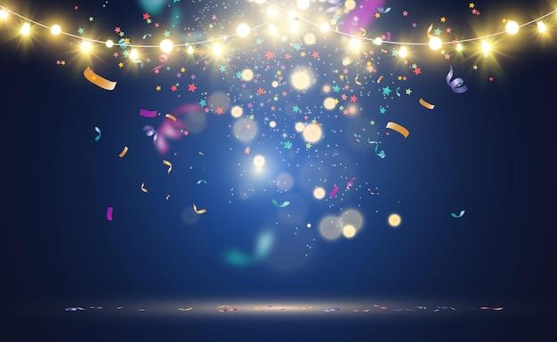 Conception de belles lumières lumineuses de noël