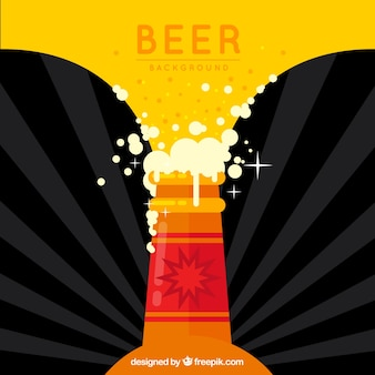 Conception de bière avec une bouteille
