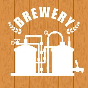 Conception de la bière. illuistration