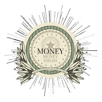 Conception de billet d'un dollar emblème