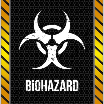 Conception biohazard sur illustration vectorielle de mur fond