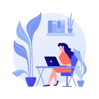 Conception biophilique dans le concept abstrait de l'espace de travail
