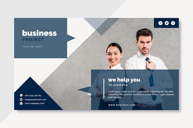 Conception de blog de bannière d'entreprise