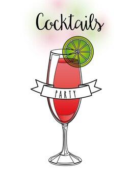 Conception de boisson délicieuse, illustration vectorielle eps10 graphique
