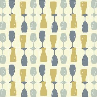Conception de boissons au cours de l'illustration vectorielle sur fond beige