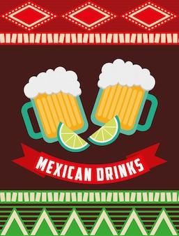 Conception de boissons mexicaines