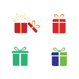 Conception de boîte-cadeau icône vector illustration