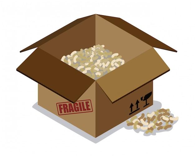 Conception de la boîte de livraison.