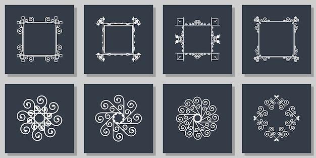Conception de bordure de décoration de cadre floral ornemental