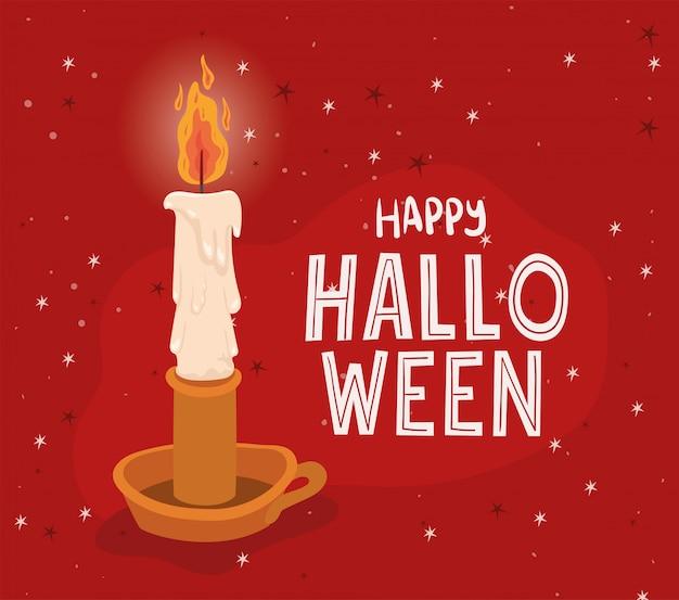 Conception de bougies d'halloween, thème de vacances et effrayant