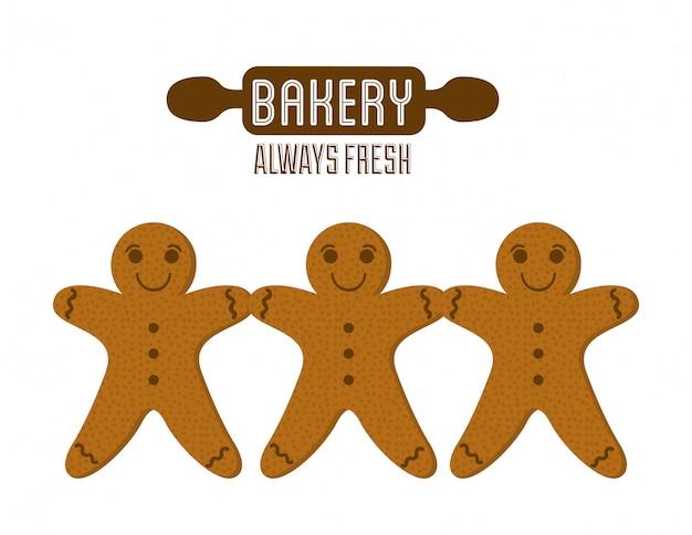 Conception de boulangerie au cours de l'illustration vectorielle fond blanc
