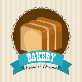 Conception de boulangerie, dessert et barre de lait.
