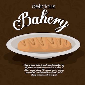 Conception de la boulangerie, illustration vectorielle.