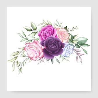 Conception de bouquet aquarelle