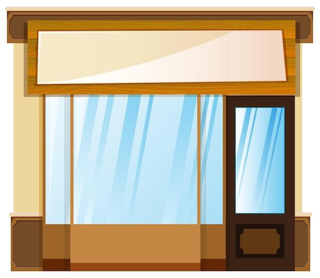 Conception de boutique avec bannière sur le dessus