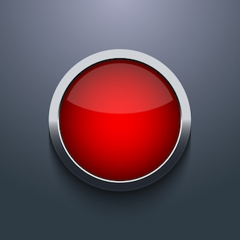 Conception de boutons web sur fond gris
