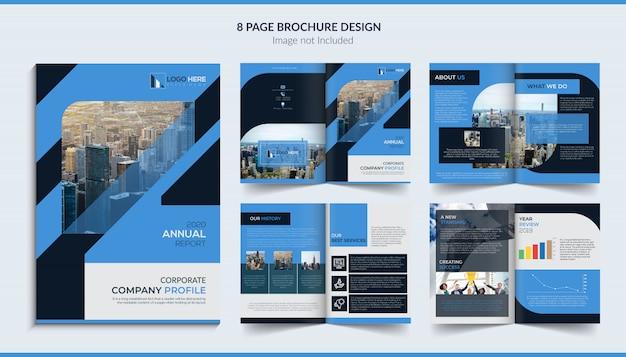 Conception de brochure de 8 pages