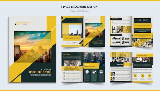 Conception de brochure de 8 pages