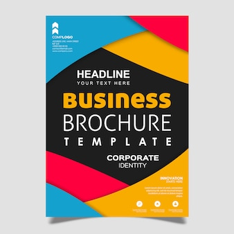 Conception de brochure abstraite vector