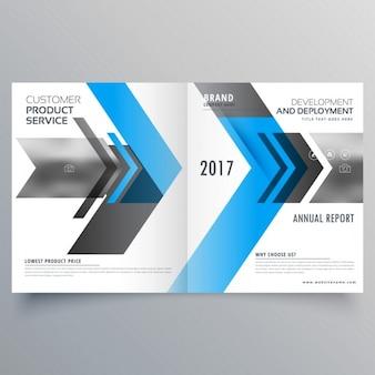 Conception brochure d'affaires de modèle de style moderne bifold