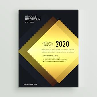Conception de brochure d'affaires premium or