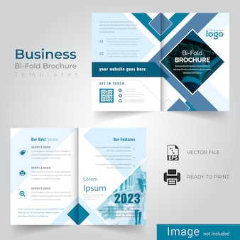 Conception de brochure bifold abstraite