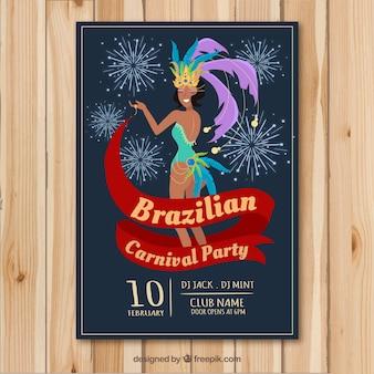 Conception de brochure de carnaval brésilien