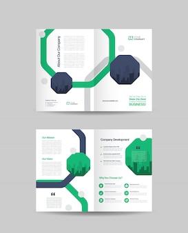Conception de la brochure en deux volets