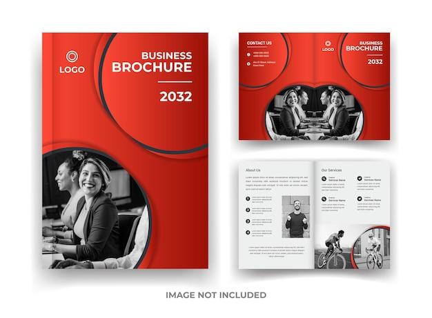 Conception de brochure d'entreprise de 04 pages et modèle de rapport annuel et de magazine