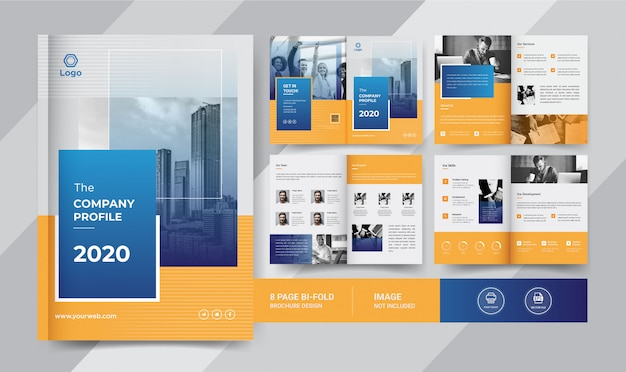 Conception de brochure d'entreprise 8 pages