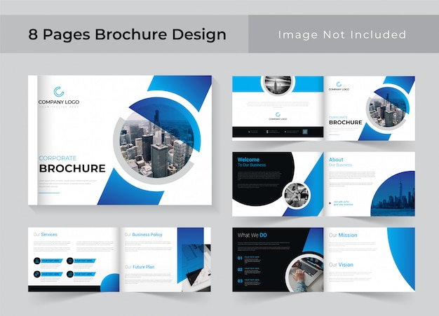 Conception de brochure d'entreprise de 8 pages