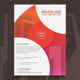 Conception de brochure d'entreprise abstraite
