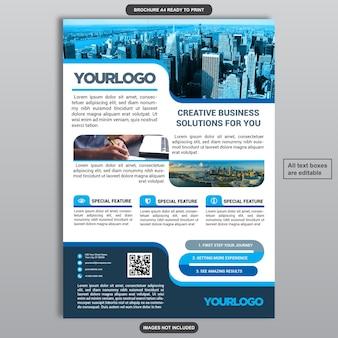 Conception de brochure d'entreprise informative bleue
