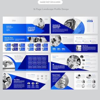 Conception de brochure d'entreprise de paysage