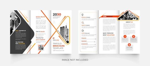 Conception de brochure d'entreprise à trois volets moderne