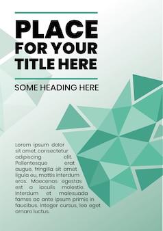 Conception de la brochure avec des formes géométriques