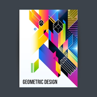 Conception de la brochure géométrique