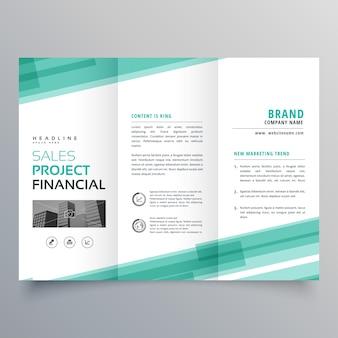 Conception de brochure modèle abstrait trifold vert