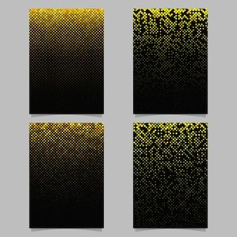 Conception de brochure motif carré