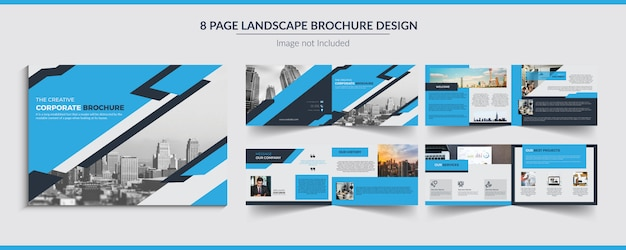 Conception de brochure de paysage